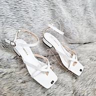 Giày Sandal Cao Gót Nữ 3 Phân Kẹp Ngón Đi Học, Đi Làm - MS 076 thumbnail