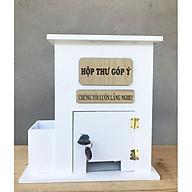 Hòm thư góp ý, thùng thư bằng gỗ được sơn màu trắng xinh xắn thích hợp dùng trang trí decor văn phòng hoặc các cơ quan, tặng khung ảnh và bộ đinh ốc giúp treo hộp. thumbnail