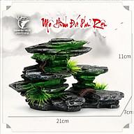 Mô Hình Đá Phủ Rêu Trang Trí Hồ Thủy Sinh, Làm Đế Tượng Gốm mini Trang Trí Tiểu Cảnh thumbnail
