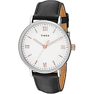 Timex Men s TW2R80400 Southview 41mm Brown Cream Leather Strap Watch thumbnail