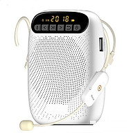 Máy trợ giảng không dây A500 Wireless Kèm theo 1 Micro ko dây cài tai hạt đậu mầu da + 1 Micro có dây cài ve áo + 1 Tai nghe Bluetooth Siêu Bass Có Mic Đàm Thoại Thích Hợp các cuộc họp, hội nghị và học trực tuyến trên Zoom thumbnail