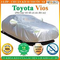 Bạt Phủ Ô Tô Toyota Vios Cao Cấp 3 Lớp Chống Nắng Nóng Chống Nước Chống xước OTOALO thumbnail