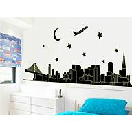 decal dán tường dạ quang thành phố đen abq9601 thumbnail