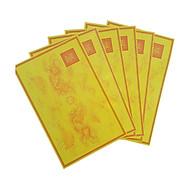 Giấy In Sớ Rồng chầu hoa sen viền có ấn RHSV a3s DL60 nền vàng - tập 1000 tờ thumbnail