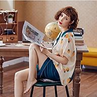 Bộ lụa mặc nhà Quảng Châu tơ lụa cao cấp thumbnail