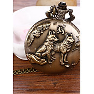 Đồng hồ quả quýt dây chuyền 12 con giáp TUẤT- DH13 SIZE LỚN thumbnail