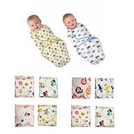 Chăn ủ quấn sơ sinh cotton mềm, mịn, mát cho bé - Màu sắc & họa tiết ngẫu nhiên thumbnail