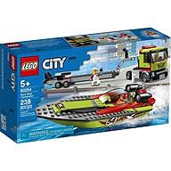 Mô hình đồ chơi lắp ráp LEGO CITY Thuyền Đua Vận Chuyển 60254 thumbnail