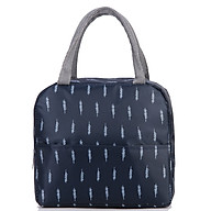 Túi vải đựng cơm có lớp giấy bạc giữ nhiệt mẫu bản ngang - màu ngẫu nhiên thumbnail