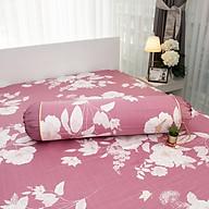 Vỏ gối Ôm Amanda Flora HQ2009 phối màu đỏ hoa lá thumbnail