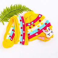Mũ len tai thỏ kèm khăn cho bé - màu ngẫu nhiên thumbnail