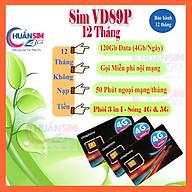 [Sim Dùng 12 Tháng ] Sim 4G Vinaphone - 120G tháng - Gọi Miễn phí ( VD149 - VD89P - VD89 -D60G ) loại 1 năm thumbnail