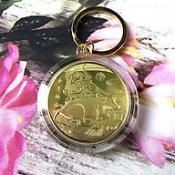Móc khóa Xu con Trâu màu vàng, dùng để treo chìa khóa, chất liệu Niken, là xu phong thủy giúp làm tăng may mắn, thẩm mỹ cho người dùng - SP002384 thumbnail