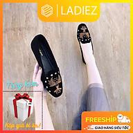 Giày Búp Bê Thời Trang Cao Cấp Ladiez Dép Sục Nữ Thêu Họa Tiết Êm Chân Đế Bệt Xinh Xắn Siêu Đẹp thumbnail