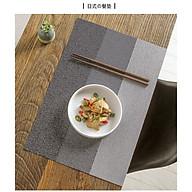 Couple 02 Miếng Lót Bàn Ăn Cao Cấp Lớn 45 30cm Bằng Nhựa Phong Cách Nhật Bản thumbnail