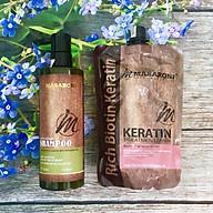 Combo gội ủ Collagen Keratin MASARONI siêu mượt cho tóc khô hư tổn 500ml thumbnail