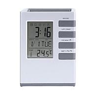 Đồng hồ báo thức,đo nhiệt độ kiêm giá đựng bút để bàn thông minh thumbnail