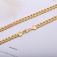 Bộ Trang sức mạ vàng 18K, Phong cách châu Âu, Kiểu lặc dẹp, kèm hộp đựng lót nhung gấm thumbnail