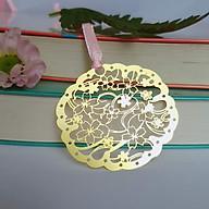 Bookmark kim loại họa tiết sakura hình đám mây hoa thumbnail