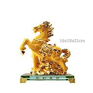 Ngựa Phong Thủy nhựa tổng hơp si vàng thumbnail