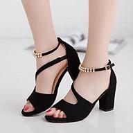 Giày cao gót 7 phân hở mũi chéo hông vòng cổ hạt LT (SD031) thumbnail