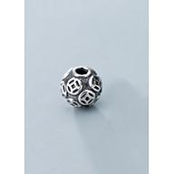 Charm bạc đồng tiền tròn xỏ ngang - Ngọc Quý Gemstones thumbnail