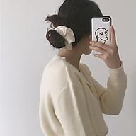 Dây buộc tóc scrunchies đẹp, chun cột tóc vải nhiều màu với chất vải cao cấp SC03 thumbnail