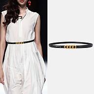Đai váy thắt lưng nữ dây nịt nữ Nutushop kiểu dáng thời trang cá tính chất liệu da thật bản nhỏ hàng cao cấp NT293 thumbnail