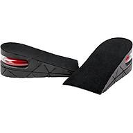 Lót giày tăng chiều cao cao su nửa bàn 2 lớp cao 5 cm (Màu Đen) thumbnail
