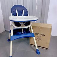 Ghế ăn dặm cho bé , ghế ăn dặm nâng hạ độ cao không bánh xe cho bé từ 6 tháng - Xanh Navy thumbnail