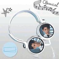 Tai nghe chụp ĐINH VŨ HỀ diễn viên thần tượng Hoa ngữ kèm dây có mic in hình tai nghe tiện lợi dễ thương thumbnail