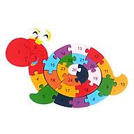 Tranh Ghép Gỗ Cần Cẩu tác dụng 5 trong 1 tư duy lắp ghép, học chữ, học số, học màu, học nhận biết con rùa thumbnail