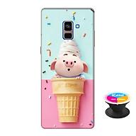 Ốp lưng nhựa dẻo dành cho Samsung A8 Plus 2018 in hình Heo Con Thèm Kem - Tặng Popsocket in logo iCase - Hàng Chính Hãng thumbnail