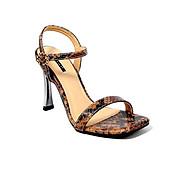 Giày Sandal Gót Nhọn Da Rắn Sulily SG1-IV20NAU màu nâu thumbnail