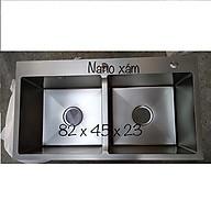 Châ u rư a ba t inox 304 phu nano 82x45x23 2 hô cân ke m rô đa năng, bi nh đư ng xa pho ng, bô xa chô ng hôi thumbnail