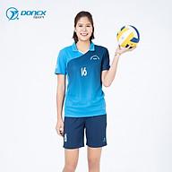 Bộ Bóng Chuyền Nữ DONEXPRO Form Regular In Chuyển Nhiệt Thân Trước, Tay Phải Ép Mác Volleyball Cao Cấp ACB-5134 thumbnail