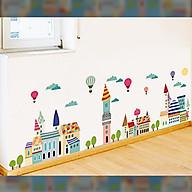 Decal dán tường chất liệu PVC loại 1, trang trí phòng khách, quán cafe- Thành phố sắc màu- mã sp AM9176 thumbnail