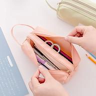 Túi đựng bút 2 sọc ngang có 2 ngăn thumbnail