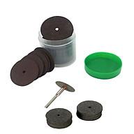 Bộ 36 dĩa cắt mini kèm 2 cán dùng cho máy khoan mài cắt khắc mini thumbnail