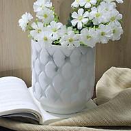 Lọ hoa carô trắng thumbnail