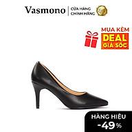 Giày Cao Gót Vasmono Bít Mũi Gót Nhọn Da Mờ thumbnail