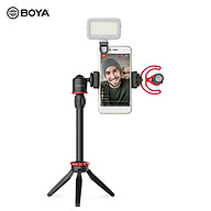 BOYA Phone Video Vlog Kit with Microphone Ball Head Tripod Extension Rod Microphone Cold Shoe Clamp Phone Clamp Shock thumbnail
