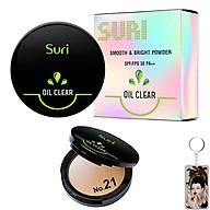 Phấn Trang Điểm Suri Oil Clear Smooth & Bright Powder Hàn Quốc 12g No.21 Da tự nhiên tặng kèm móc khóa thumbnail
