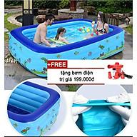 Bể BƠi Loại To 2M1+bơm Cho bé-hồ bơi mmini thumbnail