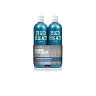 Cặp dầu gội xả phục hồi tóc hư tổn Tigi Bed Head Rehab Twin 2x750ml (Bill Anh) - Xanh mạ level 1 thumbnail