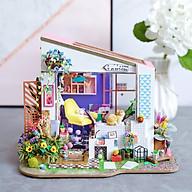 Nhà búp bê bằng gỗ lắp ghép Mặt tiền nhà Lily Tặng kèm keo dán,dụng cụ lắp ghép, mica thumbnail
