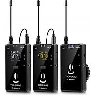 Bộ Micro thu âm không dây cài áo 2 người YC-WM500X2 hàng chính hãng. thumbnail