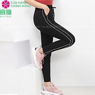Quần jogger nữ Hiền Trần BOUTIQUE dáng dài cạp chun dây buộc, kiểu sọc nhí 2 bên thumbnail
