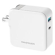 Adapter Sạc USB Type-C Cho Macbook RAVPower 36W RP-PC080 - Hàng Chính Hãng thumbnail