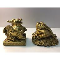 Combo bộ coc + tỳ hưu bằng đồng ( dành cho ban thần tài , khám thần tài, đồ phong thuỷ) thumbnail